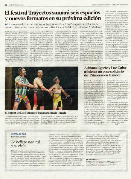 Heraldo de Aragón 26 mayo 2016