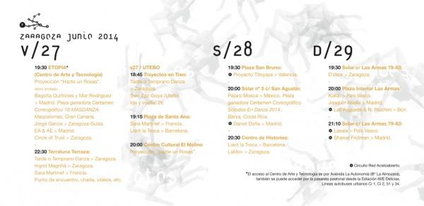 Trayectos Flyer 2014